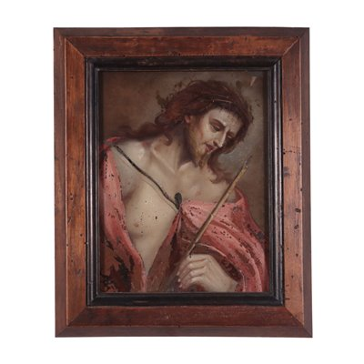 Ecce Homo Underglass Painting Early '700