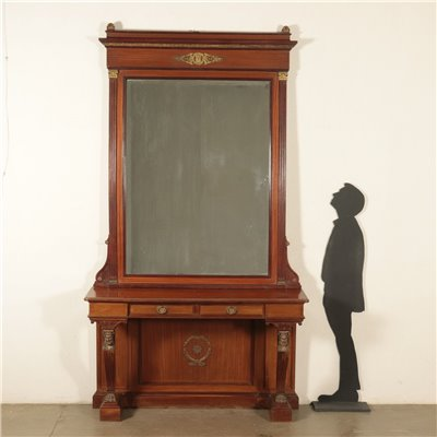 Console With Mirror Empire Revival Italy 20th Century