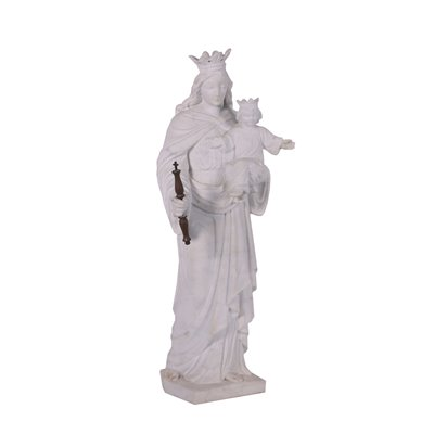 Mary The Help Of Christians Marble Sculpture Italy First Half '900