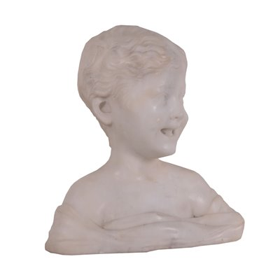 Bust Of A Child Marble Italy 19th 20th Century