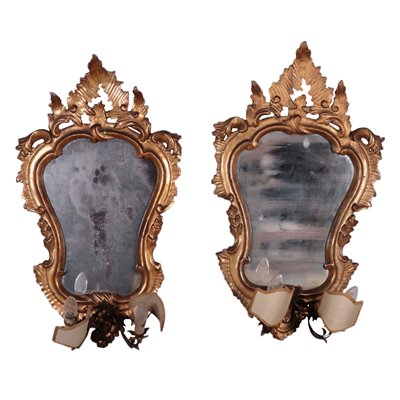 Pair Of Rococo Mirrors Italy 18th Century