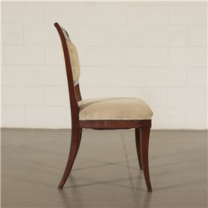 Pair Of Empire Style Chairs Walnut Italy First Quarter 19th Century