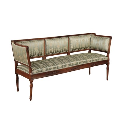 Neoclassical Sofa Walnut Italy Second Half 18th Century