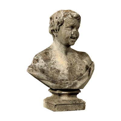 Baroque Garden Bust Vicenza Stone Italy Mid 18th Century