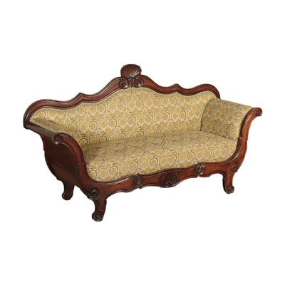 Louis Philippe Sofa Walnut Italy 19th Century