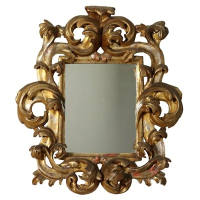 Baroque Mirror Silver-Gilt Italy 17th-18th Century