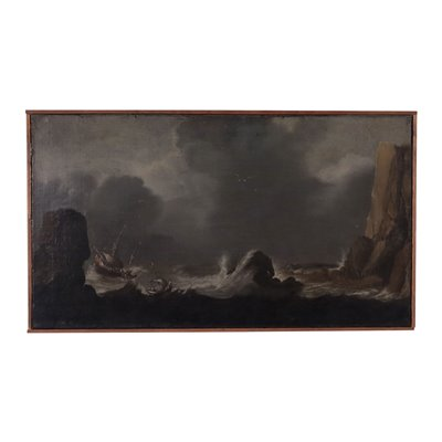 Stormy Sea Oil on Canvas 18th Century