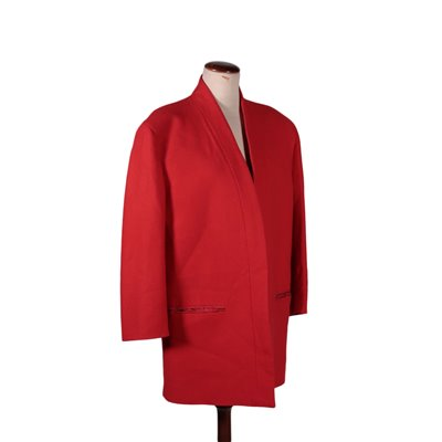 Vintage Red Ferré Jacket Wool Milan Italy Early '80s