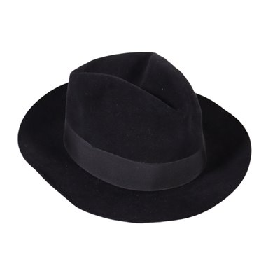 Vintage Hat For Men Black Felt Italy