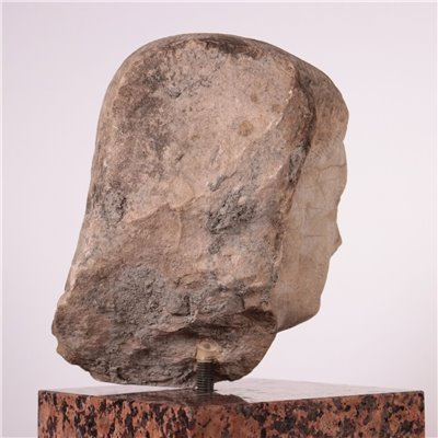 Female Face Sculpture Stone Italy 18th-19th Century
