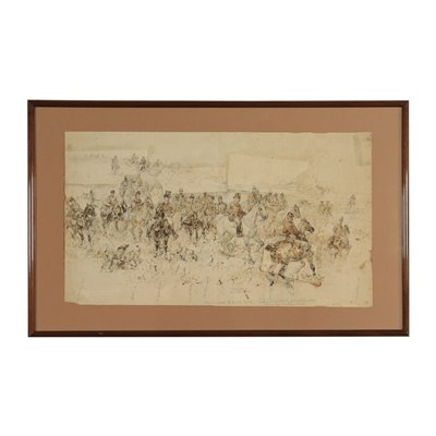 Attributed to Sebastiano de Albertis Sketch 19th Century