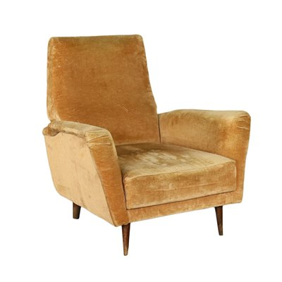 Armchair Foam and Velvet Italy 1950s-1960s Italian Production