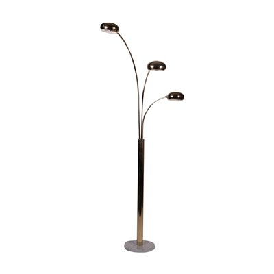 Lamp Marble and Brass-Plated Metal Italy 1980s Italian Prodution