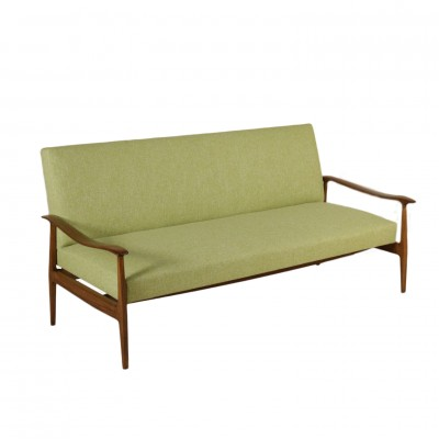 Sofa Stained Beech Springs Foam Padding Vintage Italy 1950s Vintage Modernism Sofas