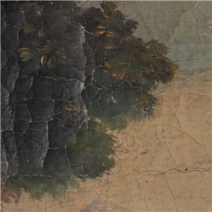 Landscape With Fiigures Oil On Canvas 18th Century