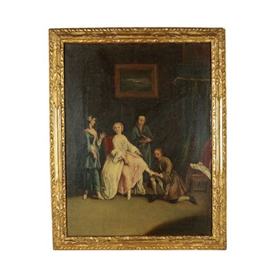 Scope Of Pietro Longhi Oil On Canvas Second Half '700