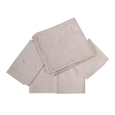 Ecru Linen Double Sheetwith 2 Pillowcases and a Towel