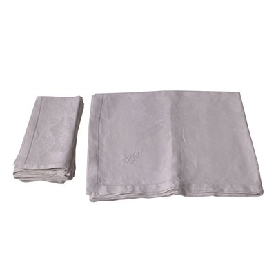 Flax Tablecloth with 6 Napkins