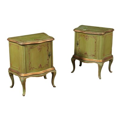 Pair of Barocchetto Style Bedside Tables Italy 20th Century