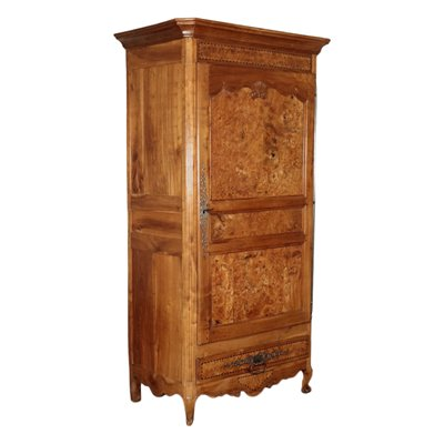 Provencal Wardrobe Cherry Elm Pine and Iron France 19th Century