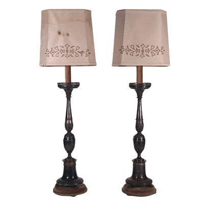 Pair of Lamps Shear Plate Italy 20th Century