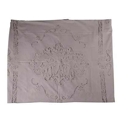 Double Bedcover with Engraved Embroidery Linen