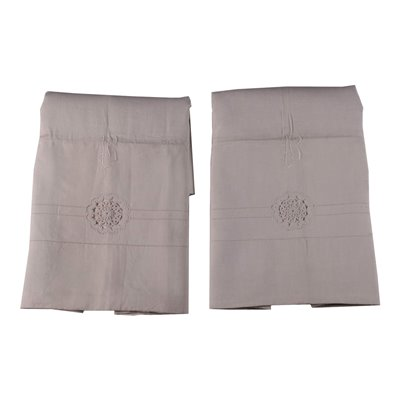 Pair of Bedsheets with Inserts Made with Tombolo