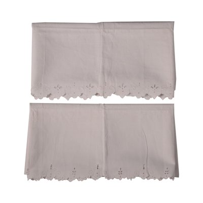 Pair of Pillow Covers with Border Emboidered with a Carving Linen