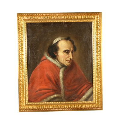Portrait Of Pope Pius VII Oil On Canvas Early '800