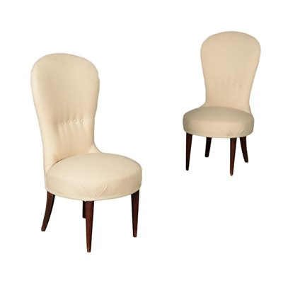 Pair Of Armchairs Spring Fabric Italy 1950s