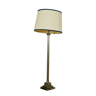 Floor Lamp Silver-Plated Brass Italy