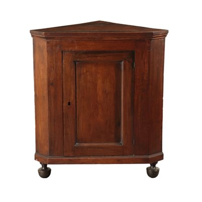 Corner Cabinet Walnut Italy First Half 19th Century