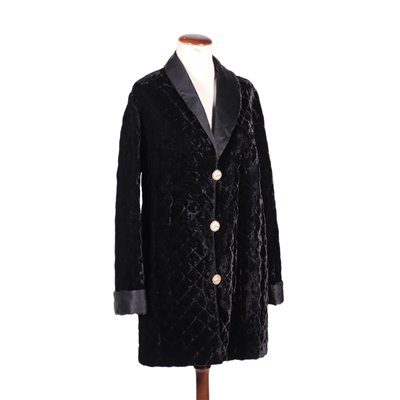 Yves Saint Laurent Jacket Quilted Velvet Paris France 1970s 1980s