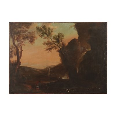 Landscape with Figures Oil on Canvas19th Century