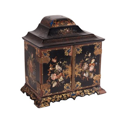Cabinet Lacquered Wood France 19th Century