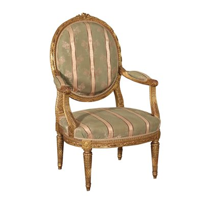 Louis XIV Revival Armchair Italy 19th-20th Century