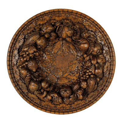Antique Carved Tray Wooden Sculpture Italy 1928