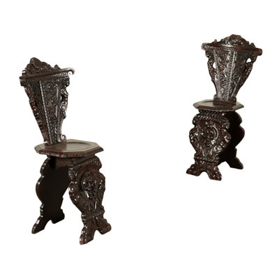 Pair Of Neo-Renaissance Chairs Italy Mid 19th Century