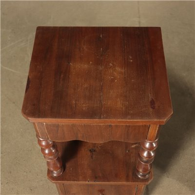 Pair of Bedside Tables Walnut Italy 19th Century