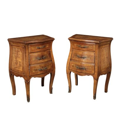Pair of Chippendale's Style Bedside Tables Bronze Italy 20th Century