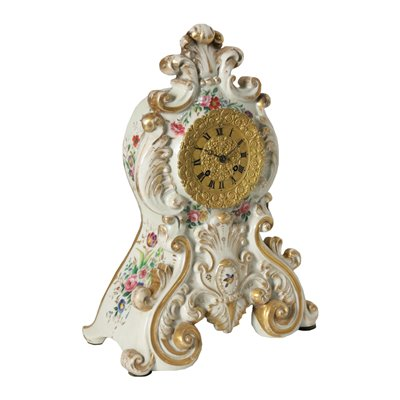 Table Clock Ceramic France 19th Century