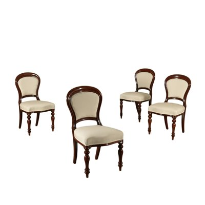 Group Of Four Chairs Victorian Mahogany England Mid 19th Century