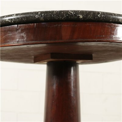 Small Biedermaier Table Black Marble Mahogany Northern Europe 19th Cen