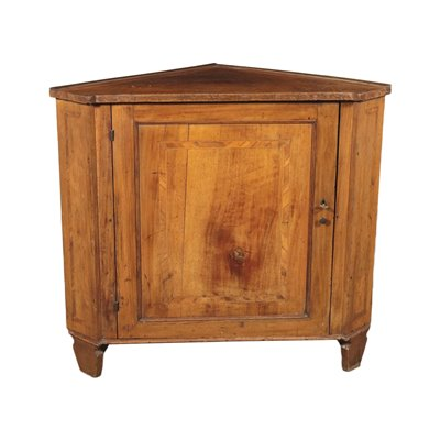 Neo-Classical Corner Cabinet Marple Cherry Walnut Italy 18th Century