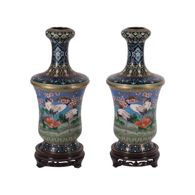 Pair of Cloisonnè Vases China 20th Century