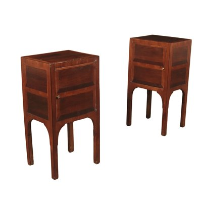 Pair Of Neo-Classical Bedside Tables Cherry Almond Tree Italy Late 700