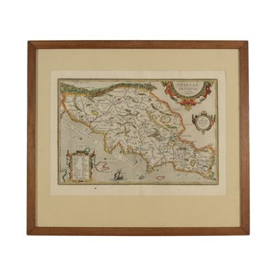 Map of The Ancient Etruria 16th-17th Century