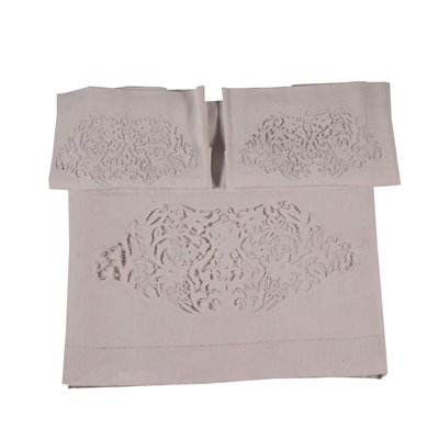 Queen Bed Cover with Covers for Pillows Flax