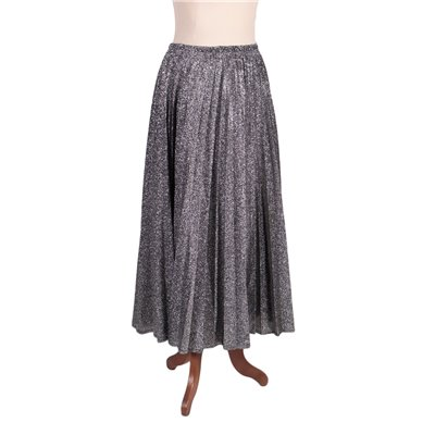 Vintage Long Silver Skirt Viscosa Italy 1980s-1990s