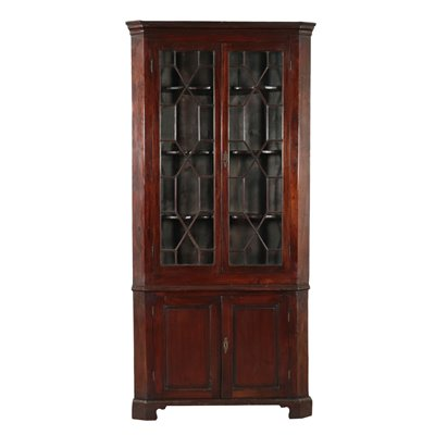 Edwardian Showcase Mahogany Pine Italy 20th Century